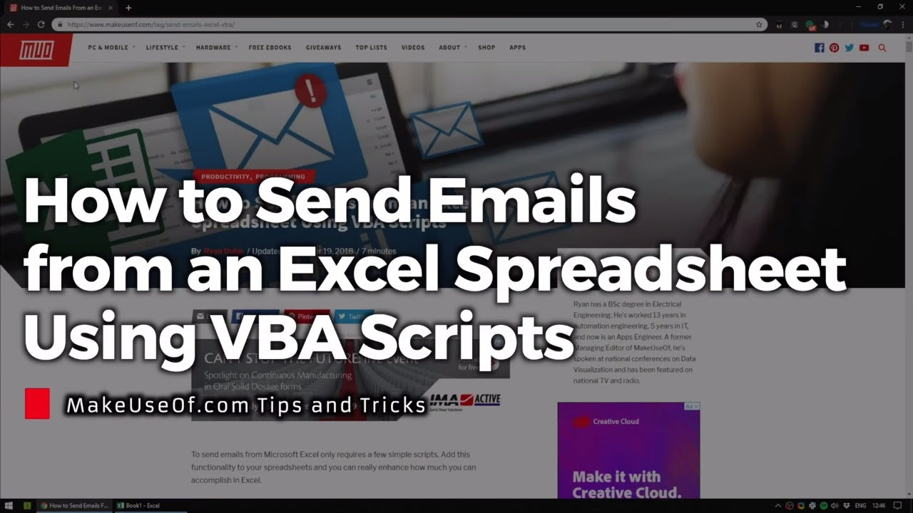How to Send Emails From an Excel Spreadsheet Using VBA