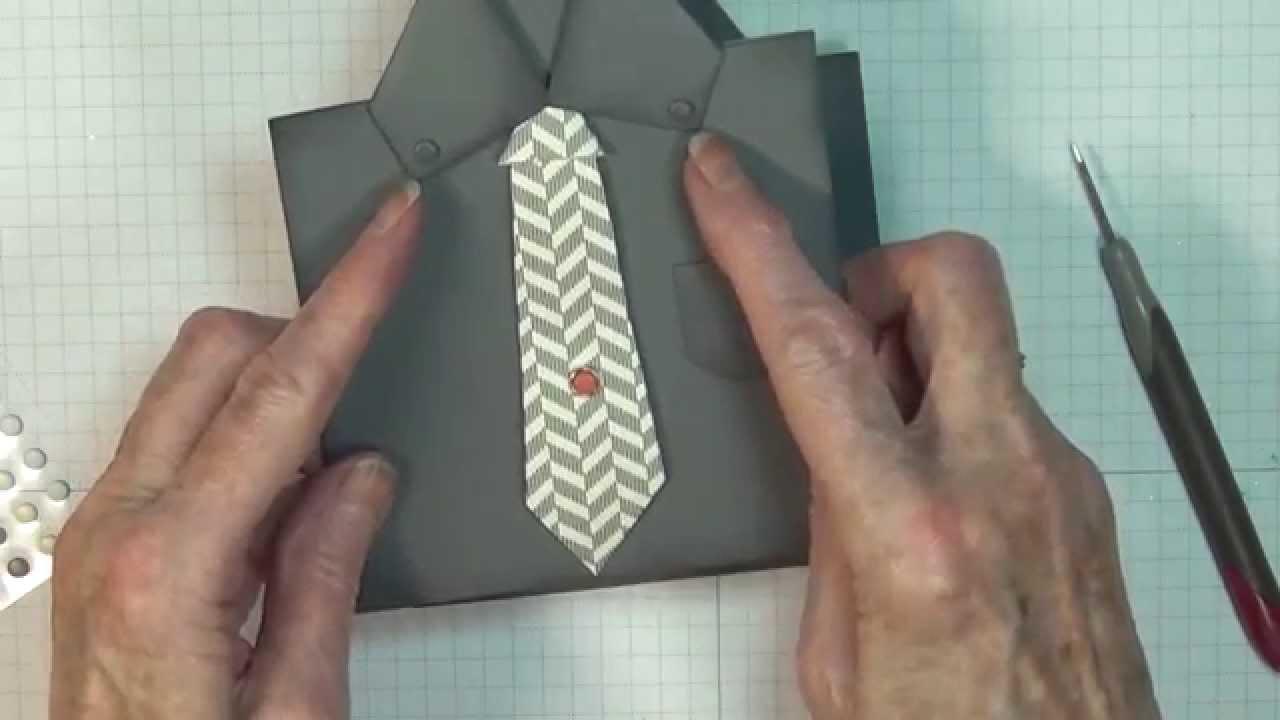 Masculine Shirt Tie Card
