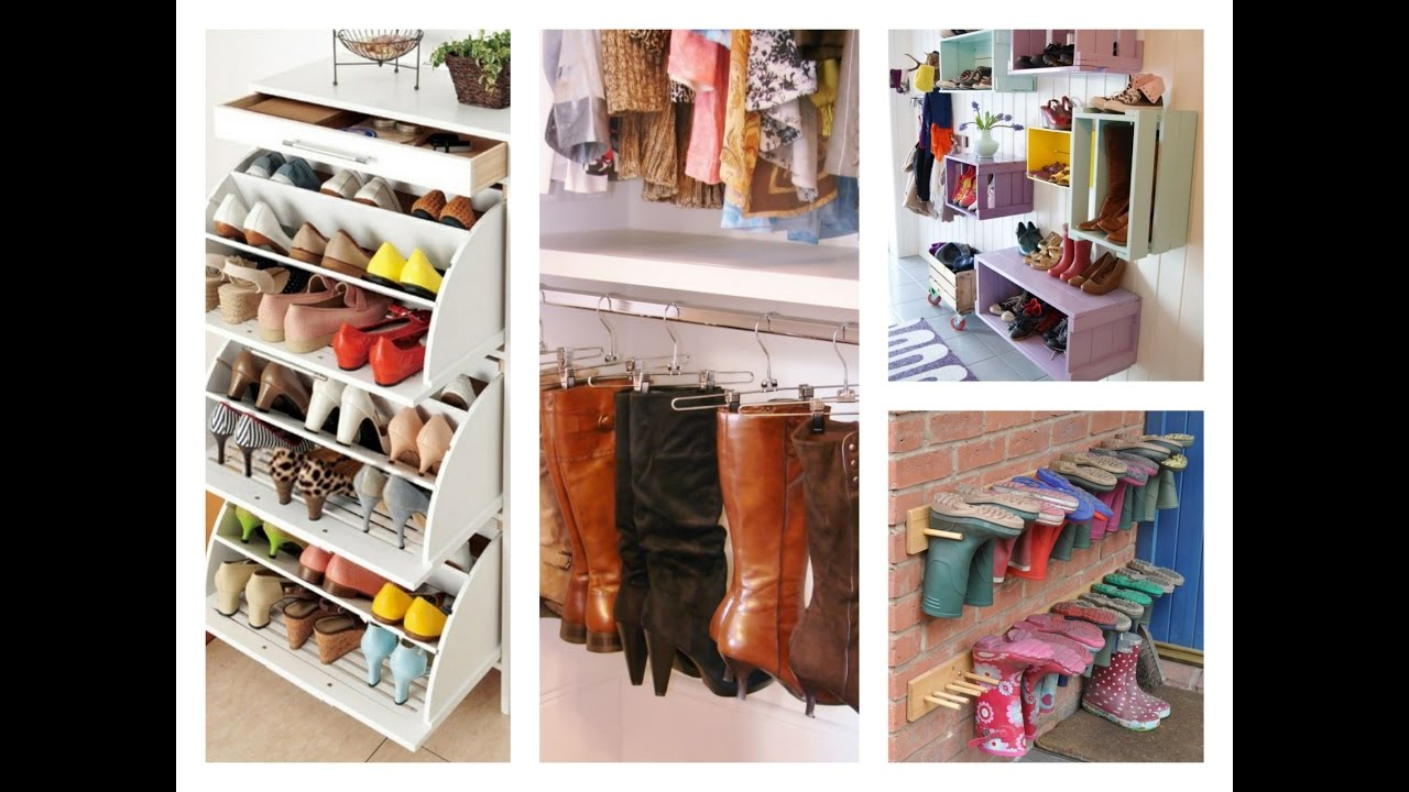 Best Shoe Storage Ideas Home Organization Tips YouTube - Best shoe storage ideas