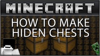 """minecraft"" (xbox 360) How To Make Hidden Chests!"