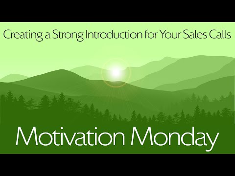 Creating a Strong Introduction for your Sales Calls
