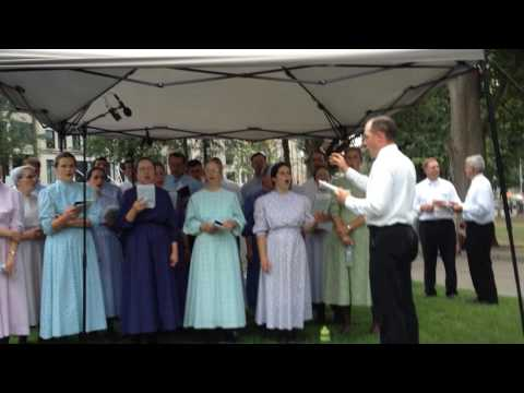 Mennonites Christian singing at the Boston Common