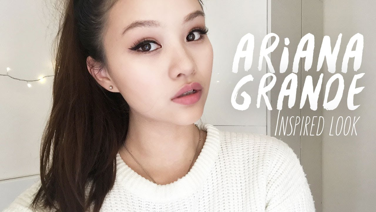 6498a854731 💖Ariana Grande Inspired Makeup Look + False Lashes Tutorial (English) -  YouTube