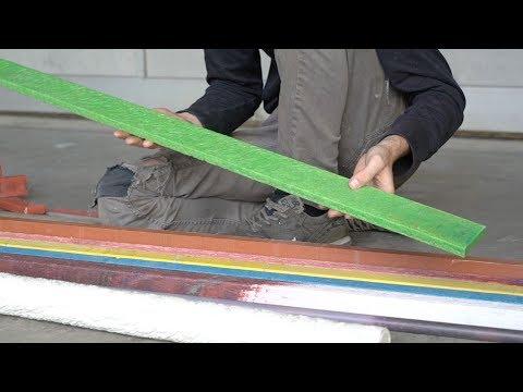Extrude beams from plastic waste #preciousplastic