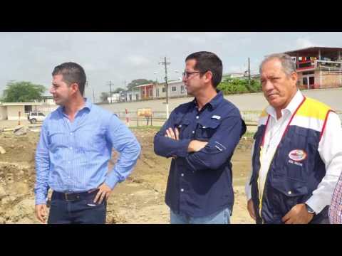 Alcalde y Secretario Técnico de Reconstrucción inspeccionan obras en Chone