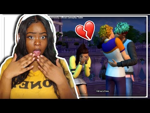Discover University GAMEPLAY! (trailer reaction) THE SIMS 4 |