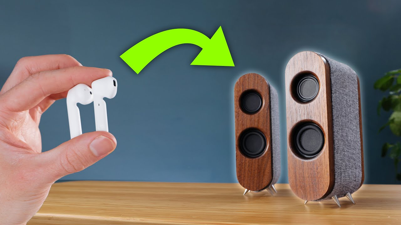 Transforming dead earbuds into POWERFUL wireless speakers