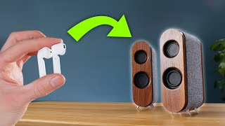 Transforming dead earbuds iฑto POWERFUL wireless speakers