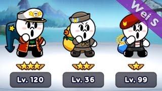 【Wei S】240 MOON Brothers II 饅頭三兄弟(軍隊版) LINE Rangers (司令官饅頭人,Navy Moon,Marine Moon,Commander Moon)