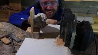 Outillage : fabrication d'un tour à bois avec un moteur de tondeuse électrique