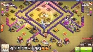 Clash Of Clans ( CoC ) Attaque 100% hdv8 maxé