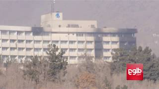 Special forces sweep the roof of Kabul's Intercontinental Hotel for insurgents.