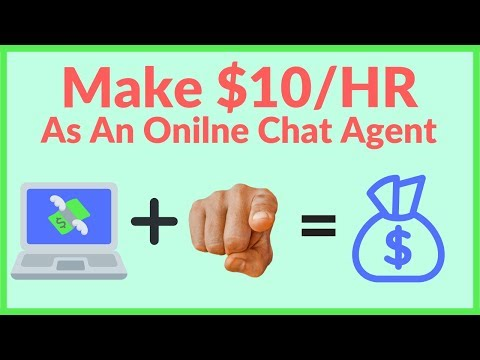 Make Money Chatting Online $10/Hr As A Home Chat Agent