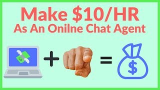 Make money chatting online $10/hr as a ...