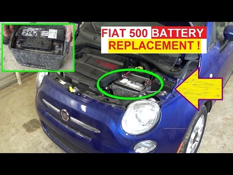 Battery Replacement on Fiat 500 2008 2009 2010 2011 2012 2013 2014 2015 2016 - 동영상