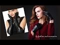 Women Black Leather Gloves