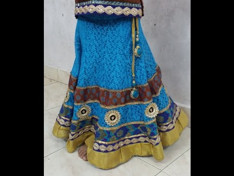 How to make a circle skirt lehenga Cutting and Stitching Simple Method ( DIY)