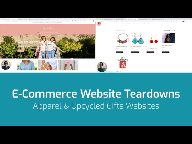 E-Commerce Website Teardowns - Miss Lilly Apparel and Koru Street Upcycled Gifts