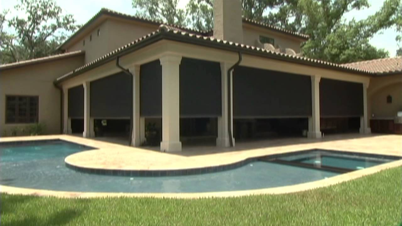 Phantom Motorized Retractable Screens   YouTube