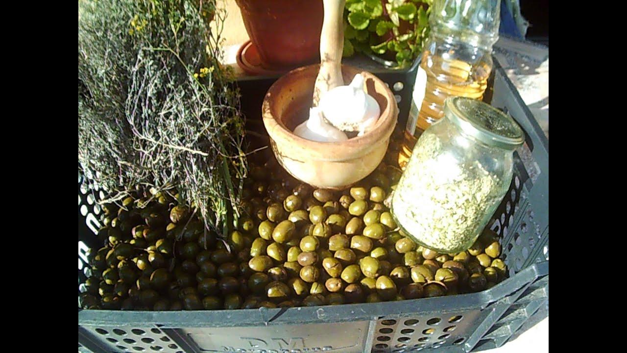 Hacer aceitunas caseras con sosa