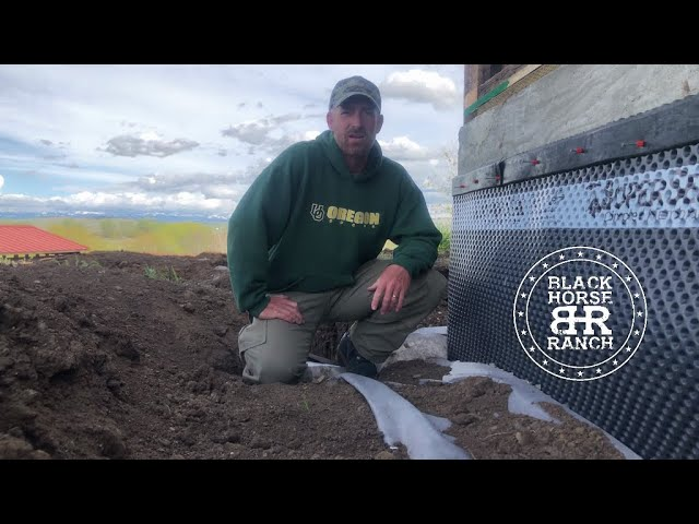 Historic Guest Barn Renovation,  Episode 12 Dimple Membrane, Drain and Backfill
