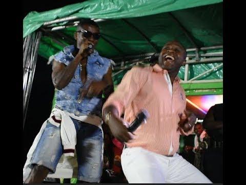 Femi Adebayo Ushers Small Doctor In As They Both Danced Shaku Shaku On Stage In Abeokuta