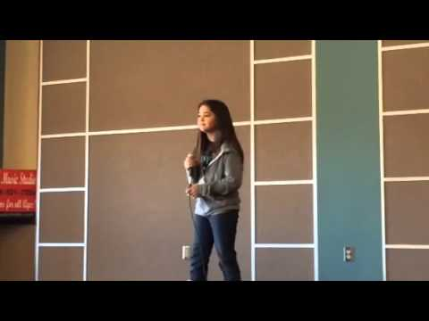 Marie singing Dear Future Husband