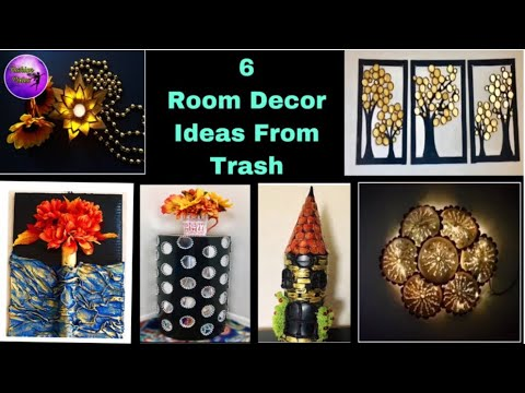 6 Diy room decor | Easy crafts | waste material craft ideas | Fashion pixies