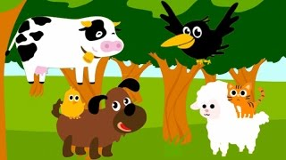 Learn Animal Names & Sounds, Learn Vegetable & Fruit Names And Color For Preschool And Toddler Game