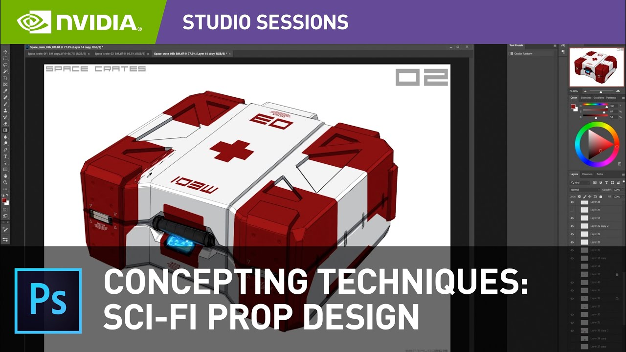 Designing Sci-Fi Objects/Props in Adobe Photoshop w/ Ben Mauro | NVIDIA Studio Sessions