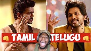 Download Tamil Vs Telugu ( Most View Count Rank ) | Tamilsongs | Telugusongs |Dhanush | Vijay |(REACTION)