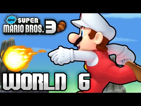 New Super Mario Bros. 3+ Part 6 - World 6 (4 Player)