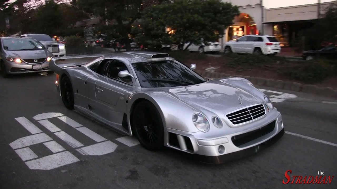 Mercedes Clk Gtr Super Sport Driving With Ferrari F50