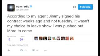 Repeat youtube video JIMMY RESPONDS TO OPIE 9/29/16 (Featuring Opie's passive aggressive tweets)