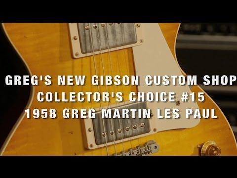 Greg Koch's New Gibson Custom Shop Collector's Choice #15 Greg Martin '58 Les Paul