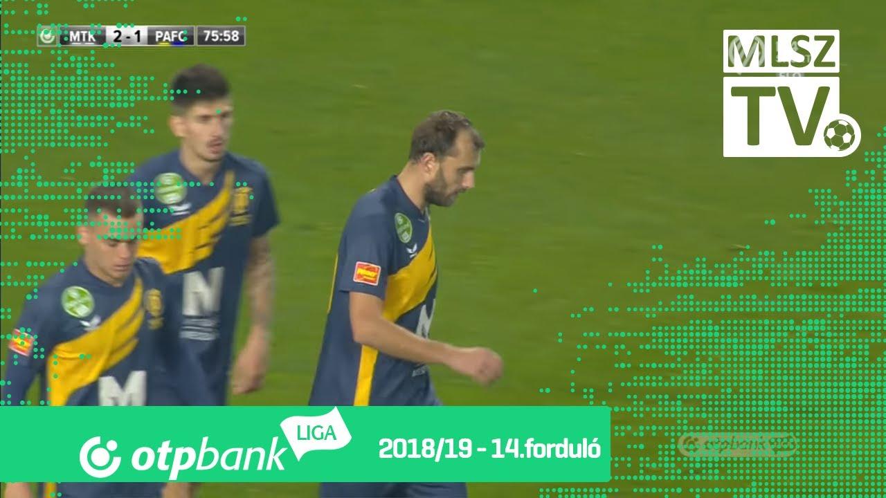 Knezevic Josip gólja az MTK Budapest - Puskás Akadémia FC mérkőzésen