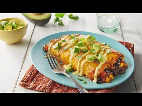 Veggie & Black Bean Enchiladas Recipe | Old El Paso Recipes