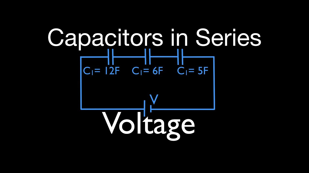 Capacitors 6 Of 11 In Series Calculating Voltage Drop Youtube Electrical Circuits Filter Calculators