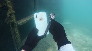Found iPhone X and Watch Buried Underwater In River (Will They Still Work?)