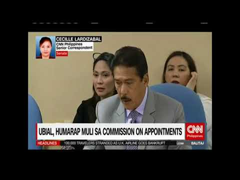 Ubial, humarap muli sa Commission on Appointments
