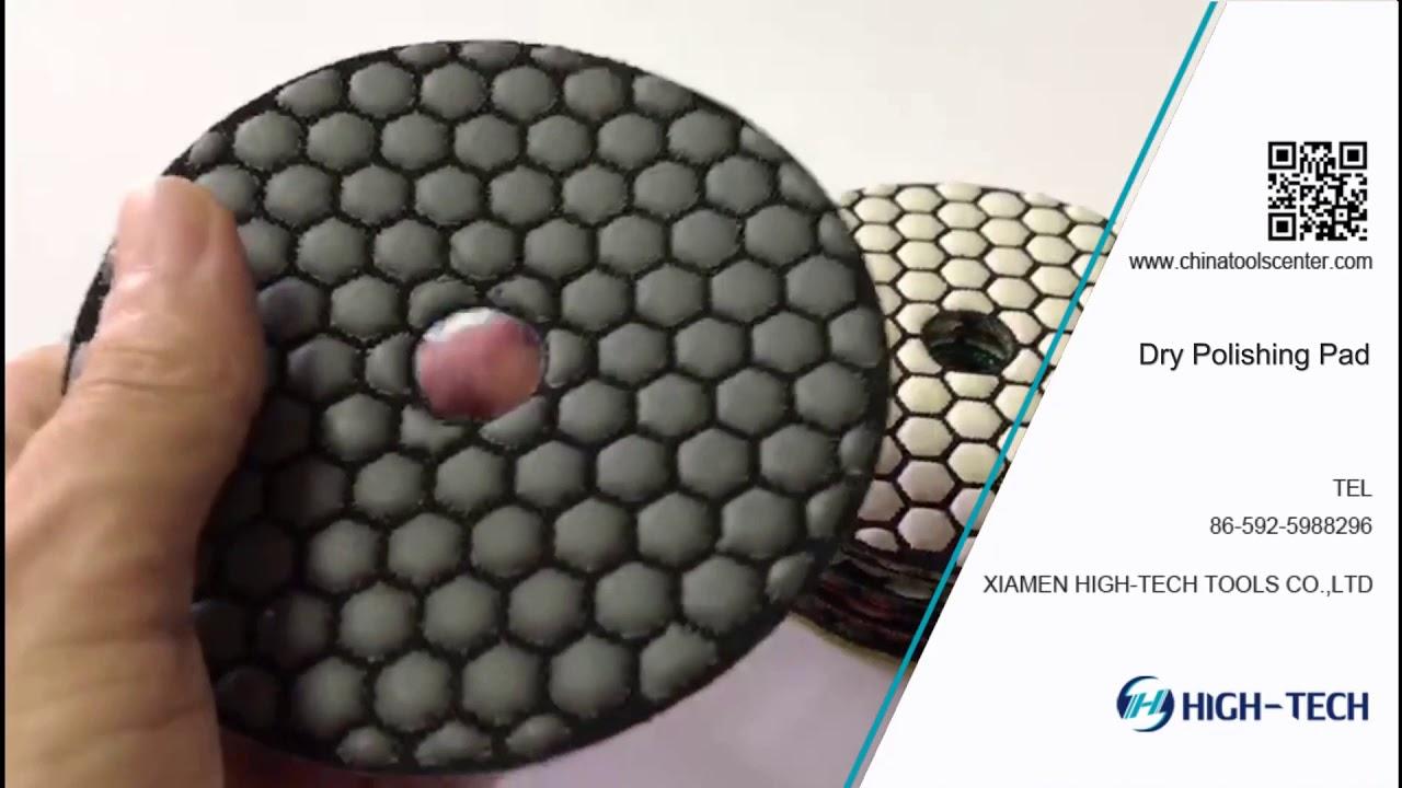 "5/"" 125mm Diamond Honeycomb More Durable Polishing Pad 14+1 Granite concrete"