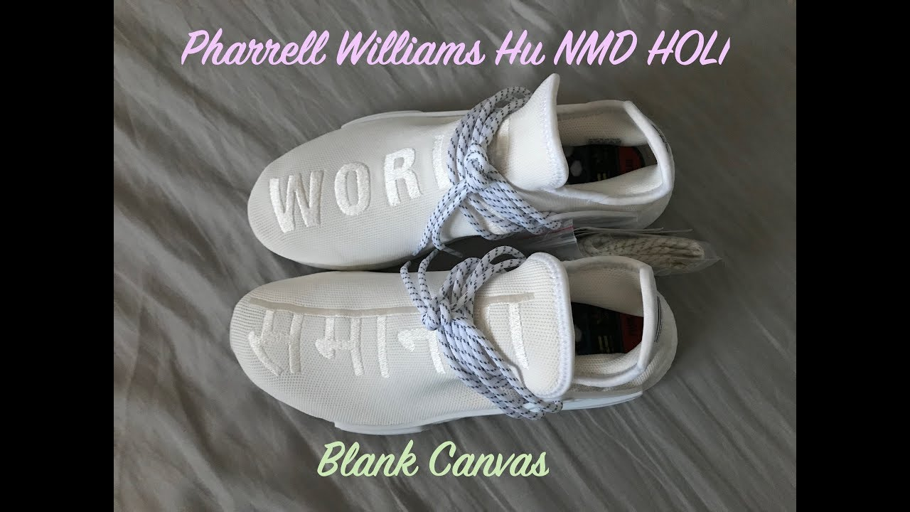 sale retailer 59b3a cbbad Adidas x Pharrell Williams Hu NMD Holi 'Blank Canvas' unboxing and review