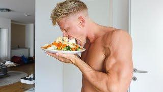 FULL DAY OF FITNESS: Gesund Einkaufen, Supplements, Ernährungsplan & Sixpack Training im Gym