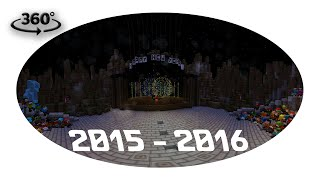 Minecraft 360° new year's eve show - The Final Countdown [360°4K60FPS]