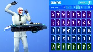 WILD CARD DIAMONDS SKIN SHOWCASE WITH ALL FORTNITE DANCES & EMOTES