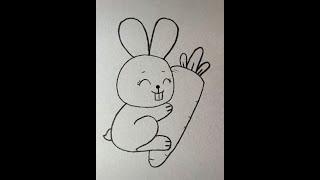 Dạy vẽ con thỏ đơn giản / Học online cùng bé