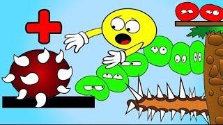 Как менялся ЖЕЛТЫЙ ПУЗЫРЬ 9 Колючки ЛОПАЮТ Желтые пузыри Острые ШИПЫ Мультик для ДЕТЕЙ