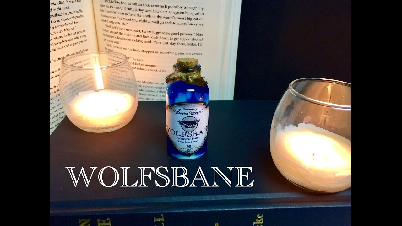 Wolfsbane Harry Potter Potions Diy Potion Bottle Halloween