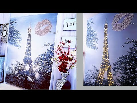 Glam Eiffel Tower Love Wall Decor|Easy Shower Curtain Home D