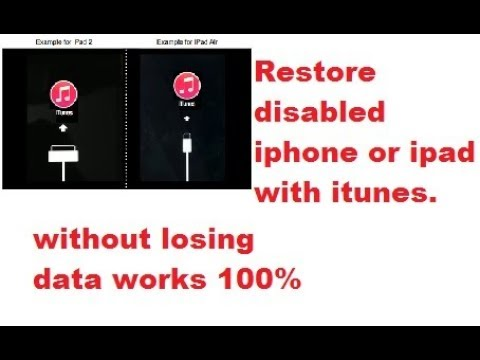 how to fix iphone disabled connect itunes
